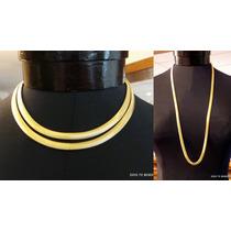 Collar Cinta Serpiente Baño Oro Larga Y Vintage