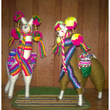 Llama Llamita Lana De Llama 18cm - Souvenirs Adornos