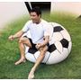 Sillon Inflable Pelota De Futbol Puff Fiaca Niños Y Adultos