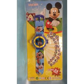Relógio Infantil Disney Mickey Projetor De Imagem Crianças
