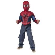 Disfraz The Amazing Spider-man 2 Músculo Del Pecho Camisa Y