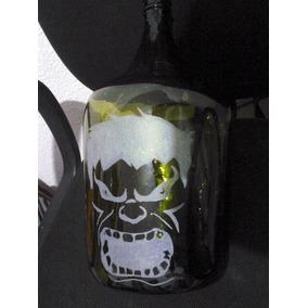 Garrafão De Vinho 5 Litros Desenho Fosqueado Do Hulk