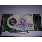 Placa De Video Geforce 7800gt 256mb Ddr3 Msi