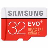 Micro Sd 32 Gb Samsung Evo Plus +, 80mb/s