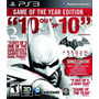 Batman Arkham City Goty Ps3 Digital