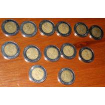 10 Monedas 5 Pesos Revolucion Independencia Repetidas Cinco