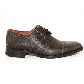Zapato Vestir Hombre Cuero Negro Graneado Abotinado