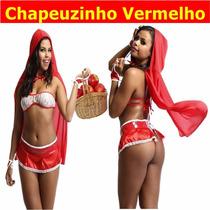 Fantasia Chapeuzinho Vermelho Lobo Lobão Maçã Festa Cosplay