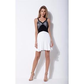 Vestido Com Recortes E Babado Morena Rosa Ref:105244