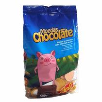 Moedas De Chocolate - Pacotes Com 500gr - Não É Frete Grátis