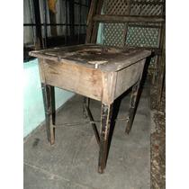Mueble Antiguo Base De Hierro Y Tapa De Madera !