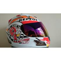 Capacete Repsol Abelha 93 Df2 Original Helmet Branco