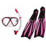 Nadadeira Mascara Esnorquel Mergulho Cetus Rapalo Rosa