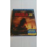 Godzilla Bluray 3d 2d Dvd Nuevo Sellado