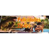 Dinosaurios Letrero De Cumpleaños Banner 30 Por 90 Cms
