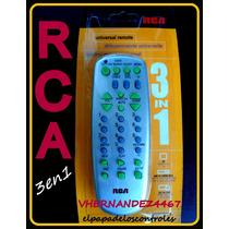 Control Remoto Rca Universal 3 En 1 Tv Dvd Vhs Cable Nuevo!!