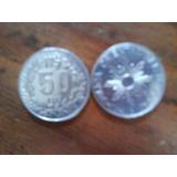 Moneda Antigua De N$50 Uruguaya Del Año 1989