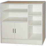 Muebles Biblioteca Armario Repisa Castaño Blanco Mobelstore