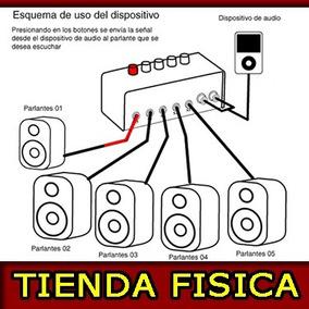 Genius Switching Box Multiplicador De Salidas De Sonido