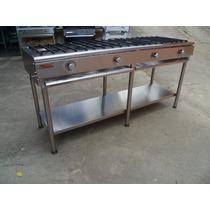 Cocina Industrial En Acero 4 Quemadores