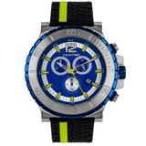 Reloj Para Hombre Tempus Deep Black 2504 Amarillo - Azul