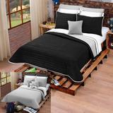 Edredon Ligero Negro Doble Vista Individual Envio Gratis