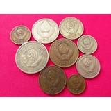 Set 9 Monedas Urss Union Sovietica Cccp