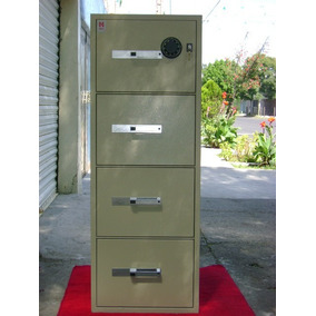 Archivero Con Caja Fuerte Usado 4 Gavetas Marca Mon Gardex