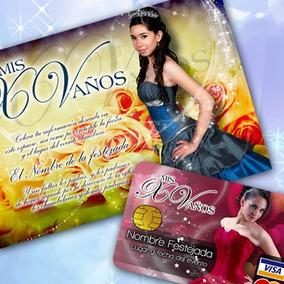Invitaciones Xv Plantillas Editables, Facebook Y Tarjeta Psd