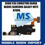 Cabo Flex Conector Micro Usb Dados Samsung Galaxy Note N7000