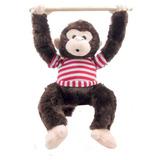 Macaco Que Assobia Fiu Fiu ... Marrom, Pelucia Bicho Animal