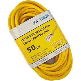 Tes 50 Pies. 12/3 Sjtw Cable De Servicio Pesado Con Luz De E