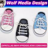 Zapatillas Iman Aprender Atarse Los Cordones Souvenirs