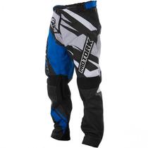Calça Infantil Trilha Motocross Protork Insane 4 Azul Cinza