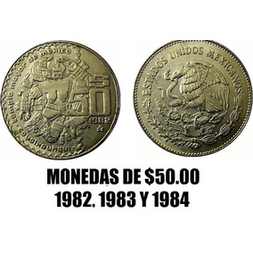 Coleccion De Monedas $50.00 1982, 1983 Y 1984. Templo Mayor