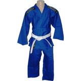 Kimono Judô Infantil Azul Tamanho M4 11anos~12 Anos