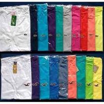 Kit C/ 10 Camiseta Gola V Masculina Diversas Marcas Atacado