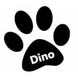 Adesivo De Patinha De Cachorro Grande Com Nome Frete Gratis