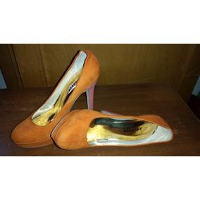 Zapatos Dama Ricky Sarkany Cuero Cabra Taco 10 Cm. Nuevos!!!