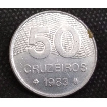 Moeda Brasil 50 Cruzeiros 1983