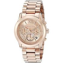 Michael Kors De Las Mujeres Rose Cooper Dorado Del Reloj Mk