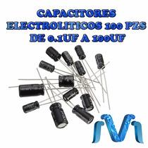 Capacitores Electroliticos (100 Pzs) De 0.1uf A 100uf