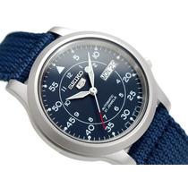 Relógio Seiko 5 Estilo Militar Automático Snk807 K2 C/caixa