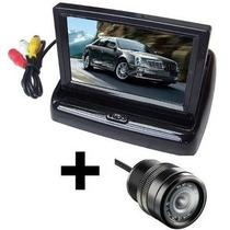 Tela Lcd Monitor Dvd Veicular Retratil 4.3 + Câmera De Ré