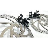 Freio A Disco Bicicleta Discos 203 / 180mm + Adaptador Post