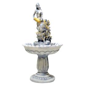 Fonte De Água Pedestal Chafariz - Mulher Com Jarro