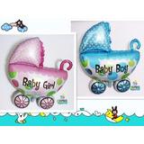 Balão Metalizado Chá De Bebê Enfeite De Mesa, Carrinho Bebê
