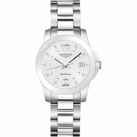 Reloj Longines Conquest Cara Plata L33774766 Ghiberti