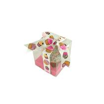 12 Cajas De 8x8x8 Cm Plegable Pegada Para Cupcake Con Base