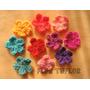 Pack Flores Tejidas Crochet Varios Colores Tamaño A Elección